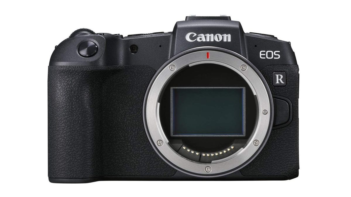 Canon EOS RP camera without a lens