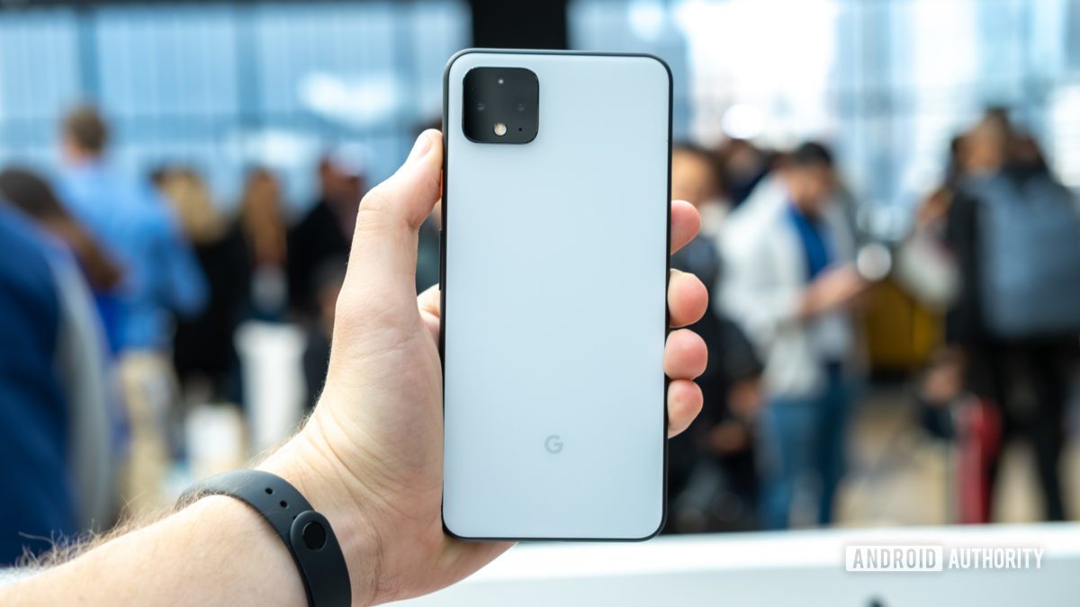 Pixel 4 XL back in hand 1