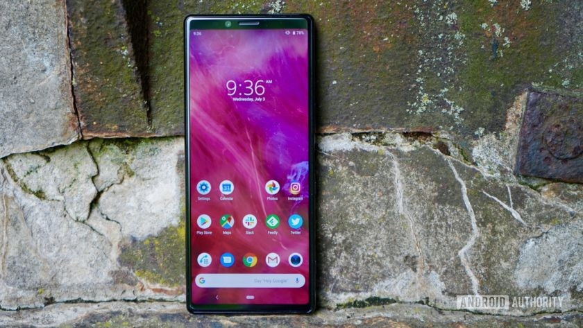 Sony Xperia 1 review home screen