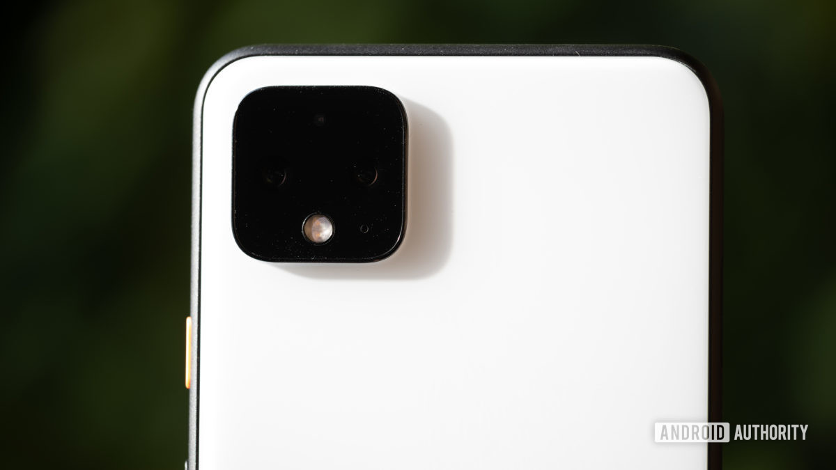Google Pixel 4 XL camera lens closeup 2