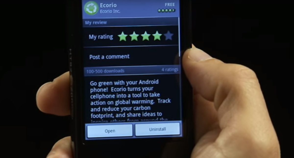 android market downloaded app