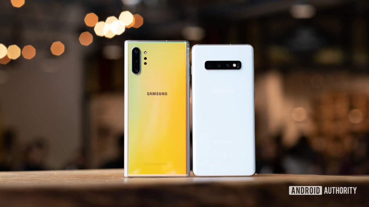 Android 10 update for Samsung phones