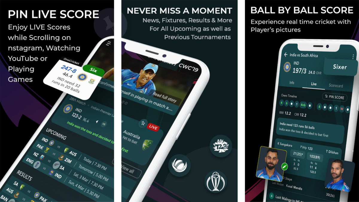 OneCricket screenshot is one of the best cricket score apps for android