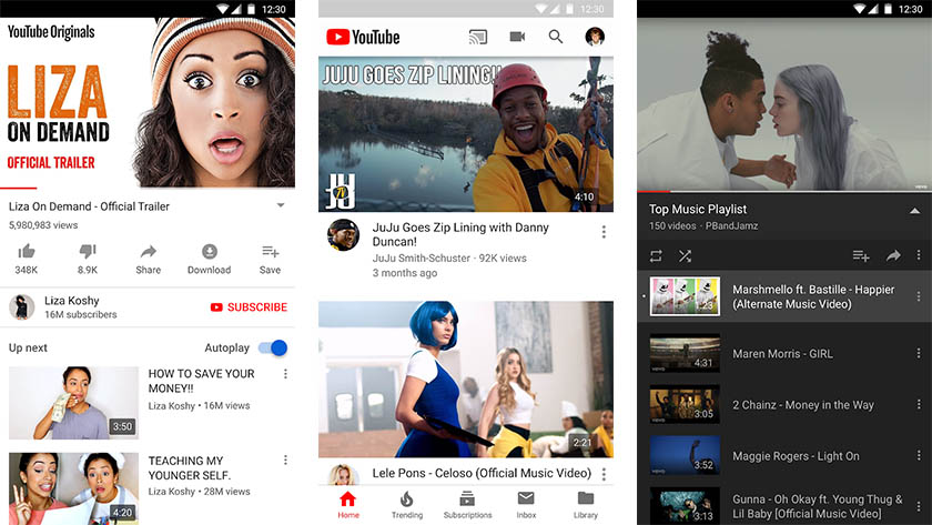 YouTube Premium screenshot for the best craft apps list