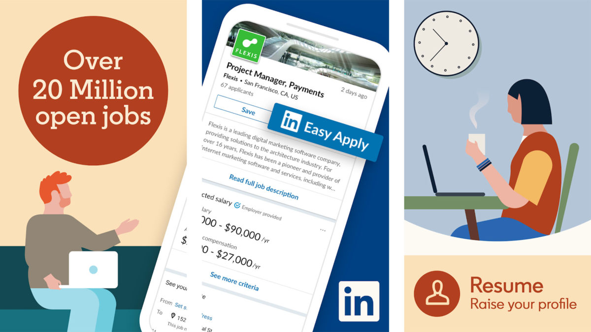 LinkedIn screenshot 2019 for the best resume builder apps for android