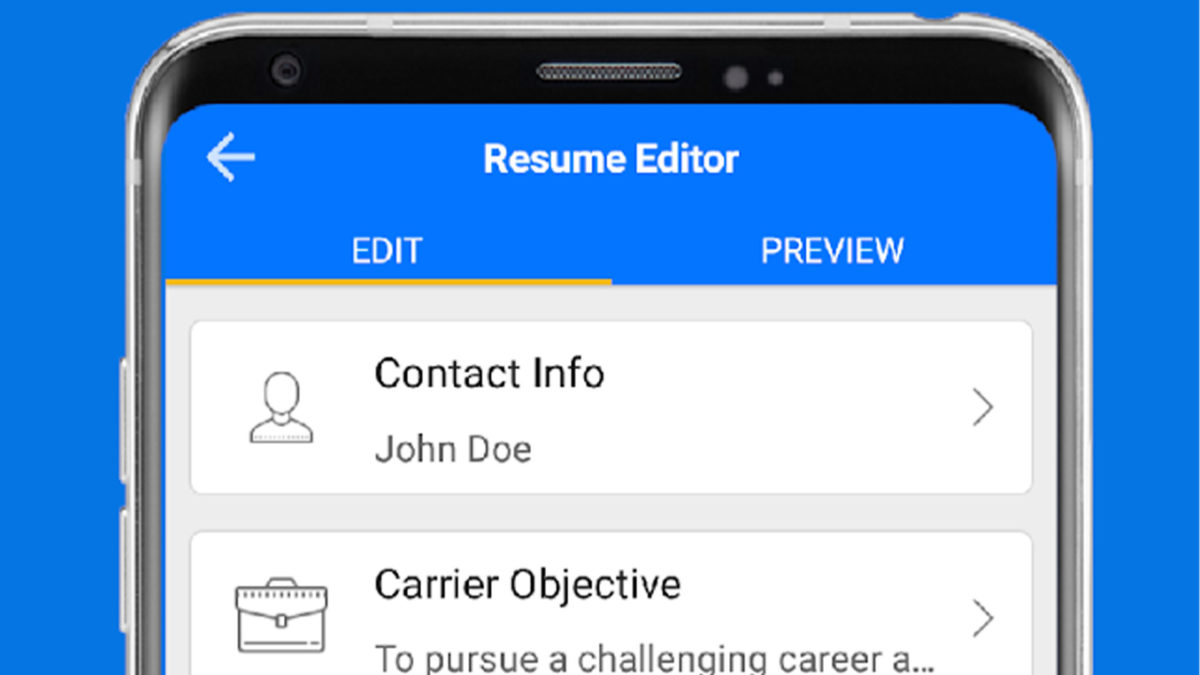 Top Resume best resume builder apps for android
