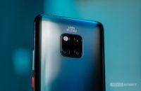 Huawei Mate 20 Pro focus on camera housing