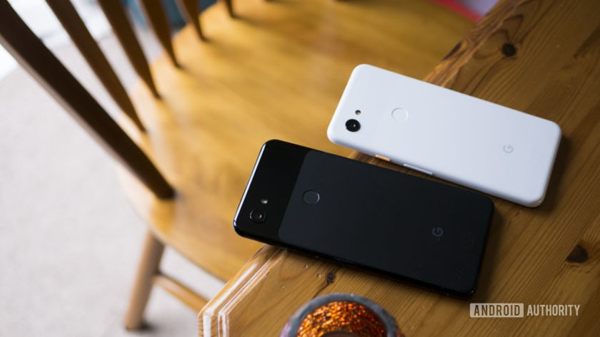 Pixel 3 and Pixel 3a XL on Table
