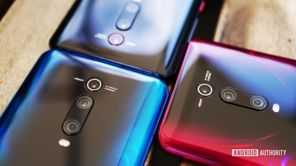 Best phones under £500 - Xiaomi Mi 9T Pro red blue black camera detail