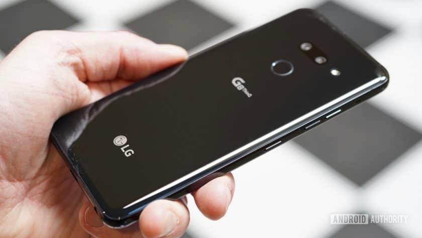 LG G8 ThinQ Review black back