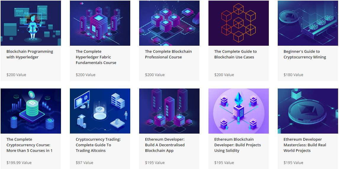 Blockchain and ethereum cryptocurrency bundle courses