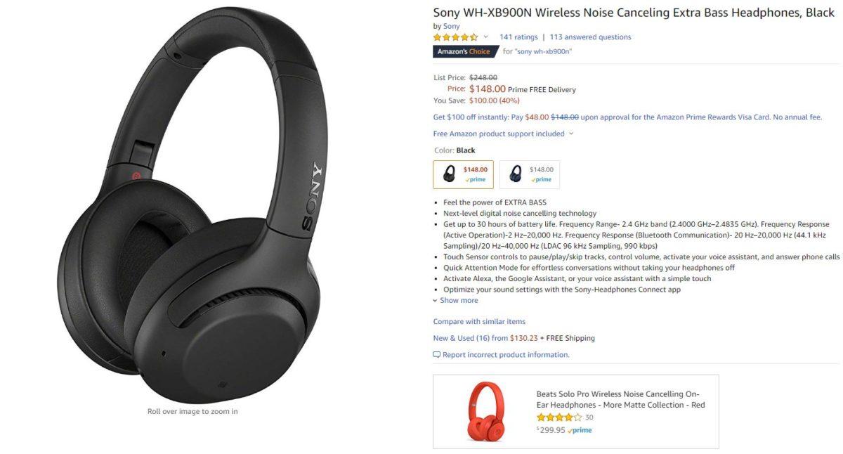 sony wh xb900n headphones