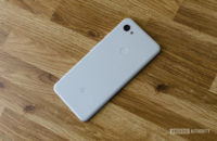 Google Pixel 3a XL lying on desk