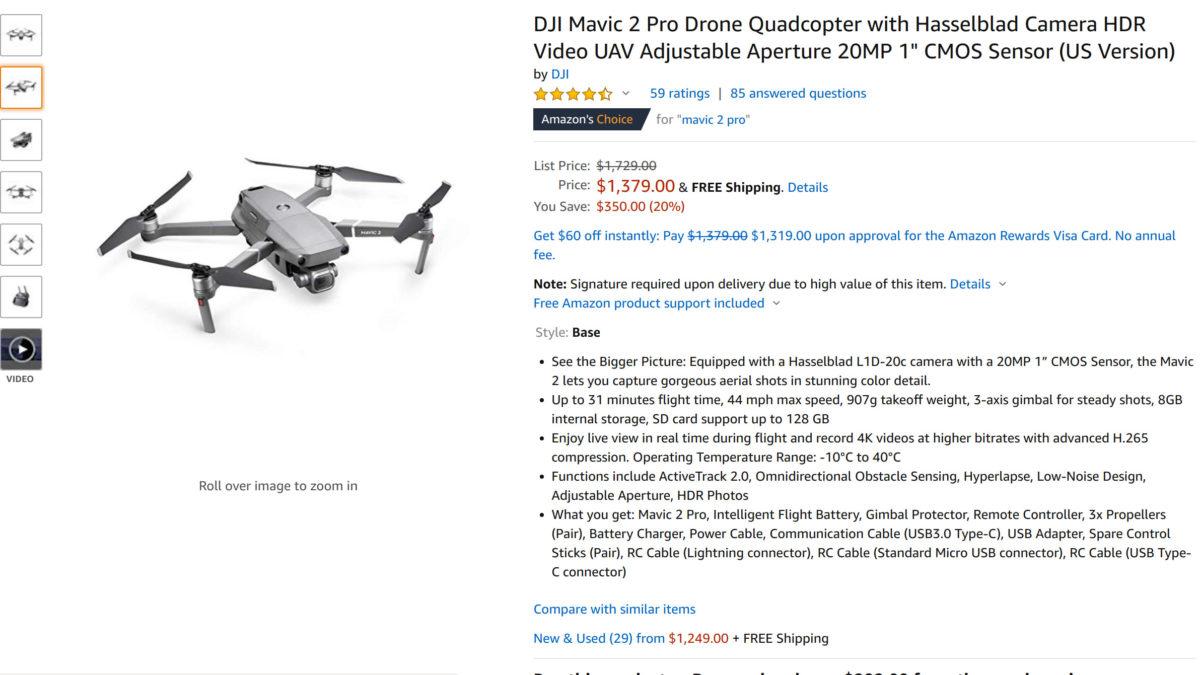 DJI Mavic 2 Pro Amazon Black Friday sale