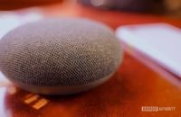 Google Nest Mini charoal closeup