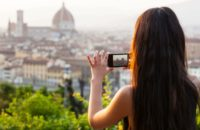 Woman Photography Smartphone Florence