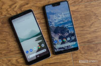 Pixel 3 XL vs Pixel 3a XL showing front of the phone