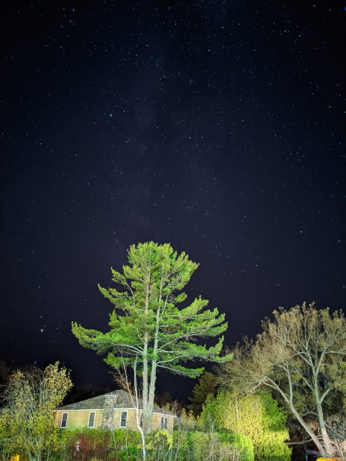 Google Pixel 4 astro mode house tree and sky