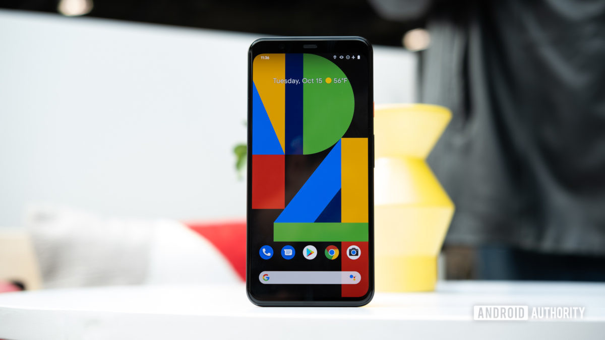 Pixel 4 XL screen on table 1