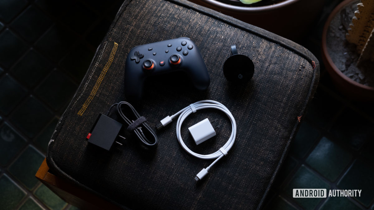 Google Stadia Founders Edition everything sprawled out 1