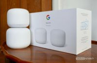 google nest wifi review next to box 2