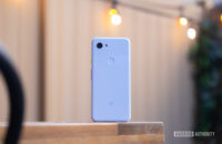 Pixel 3a back on table