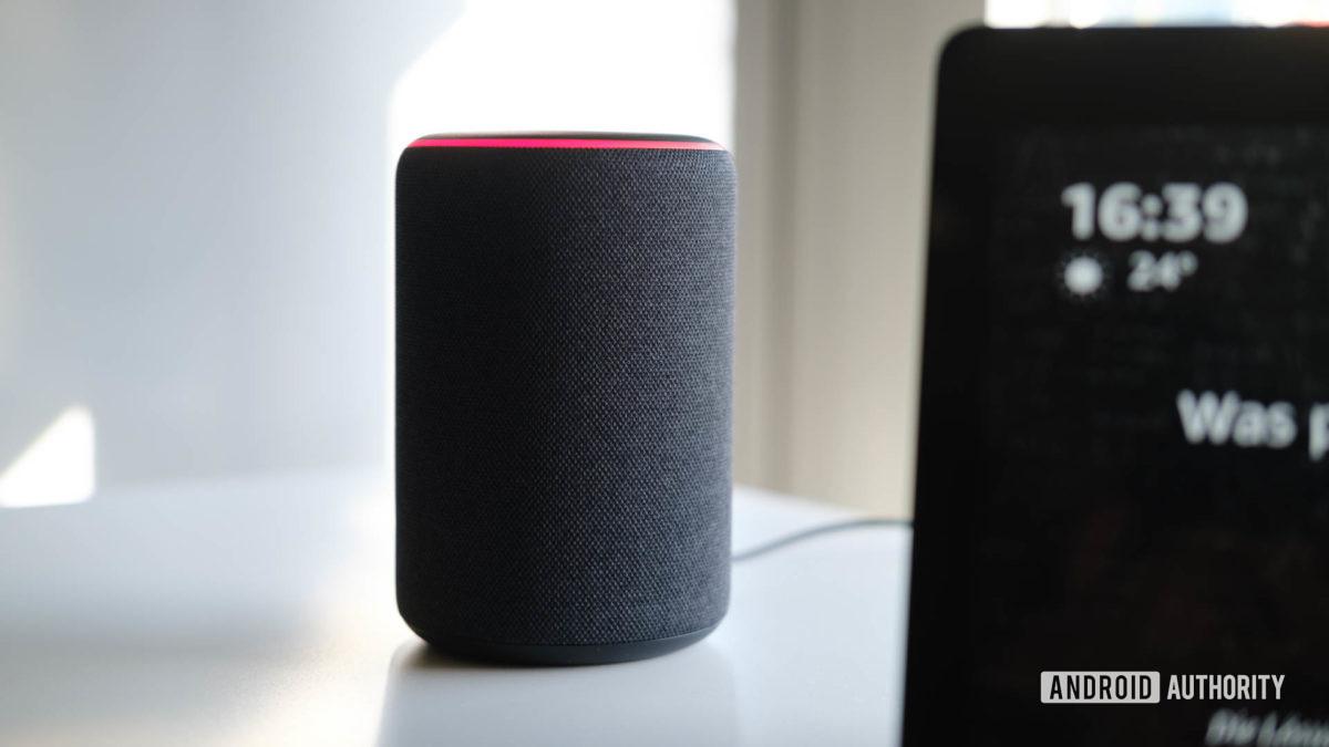 Amazon echo 2019 on table 1