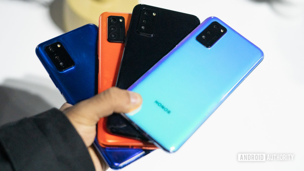 Honor View 30 displaying all colors