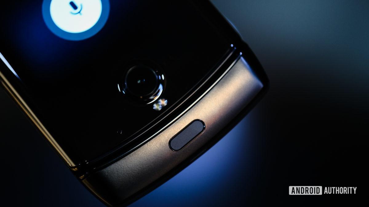 Moto Razr foldable chin with fingerprint reader