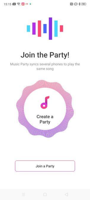 Oppo Reno 2 music sharing app