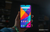 Realme X2 Pro holding it out in the hand from another angle 1