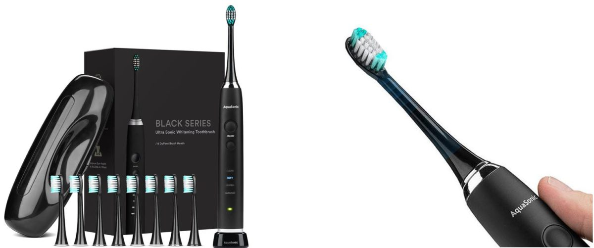 AquaSonic Black Series Toothbrush and Travel Case