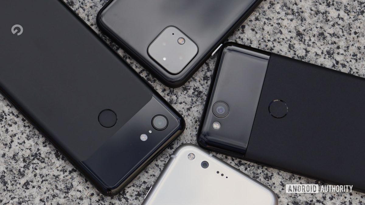 Google Pixel 1 2 3 and Pixel 4 camera closeup