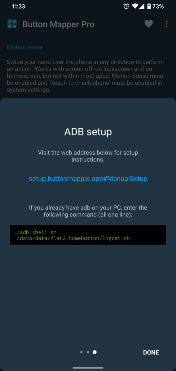 Button Mapper Remap Motion Sense Gestures ADB Commands 3