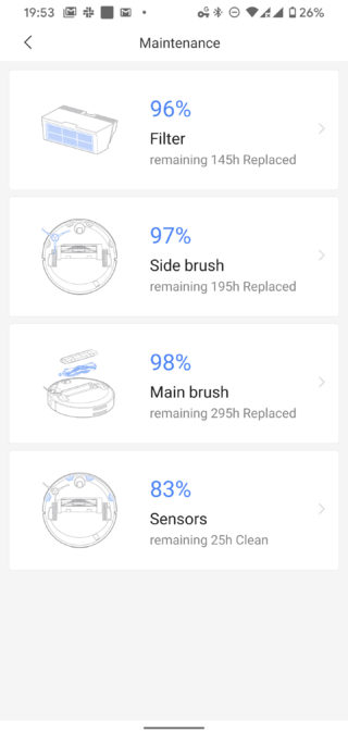 Roborock app maintenance