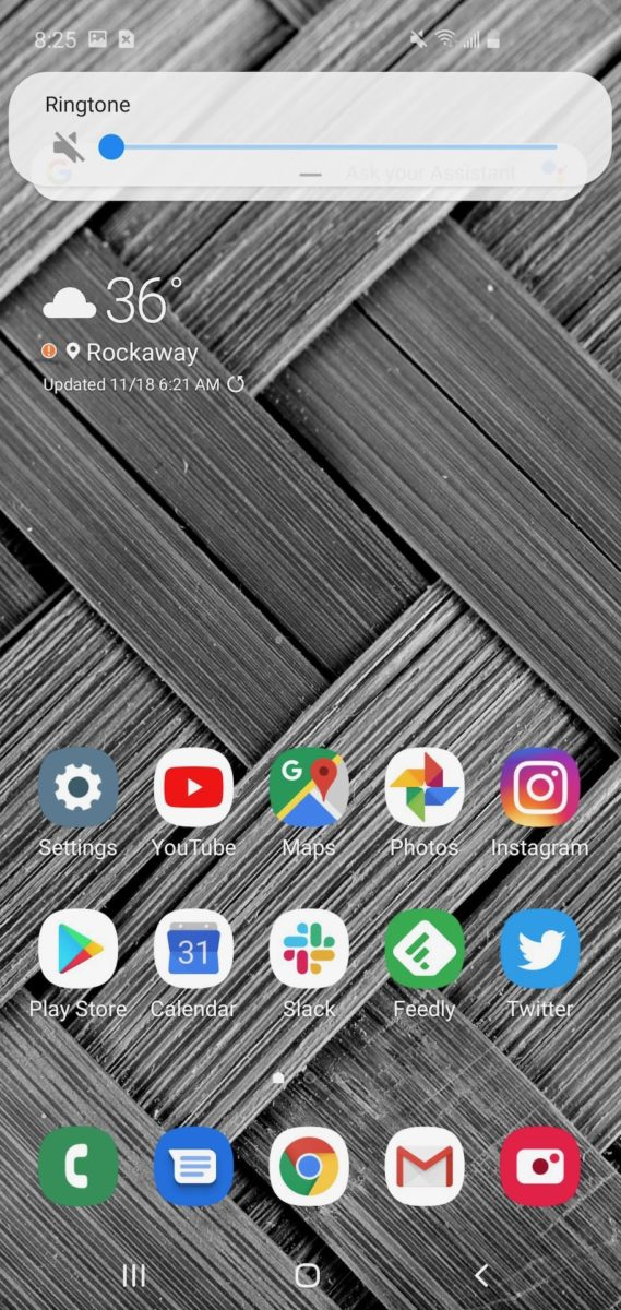 Samsung One UI 1 volume controls