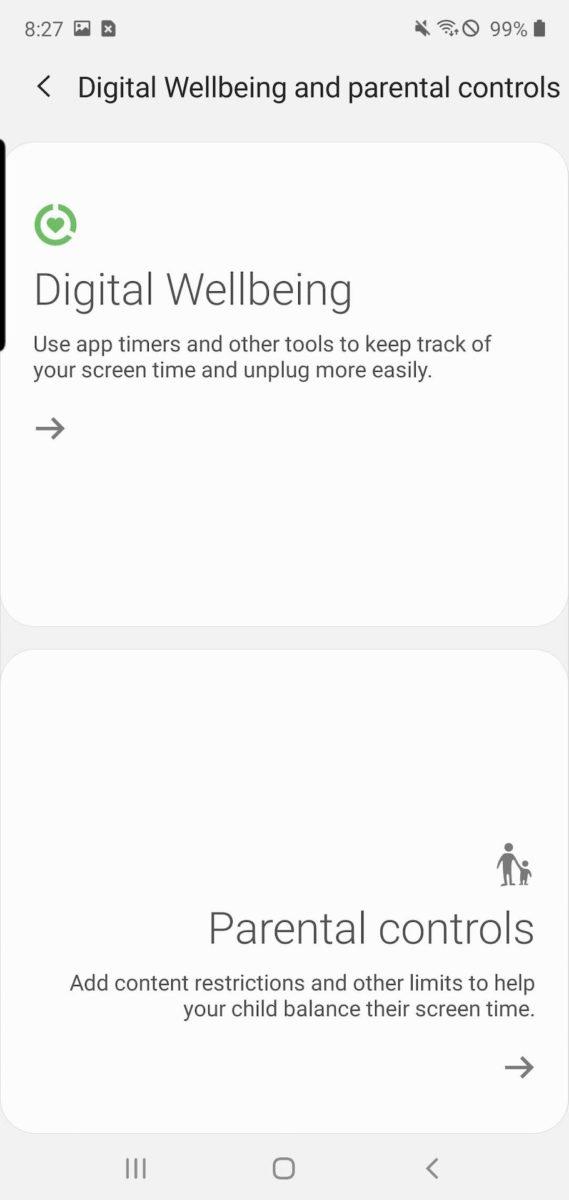 Samsung One UI 2 digital wellbeing new controls