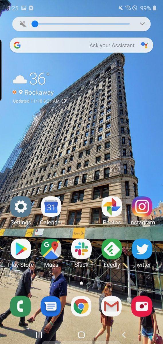 Samsung One UI 2 minimized volume controls
