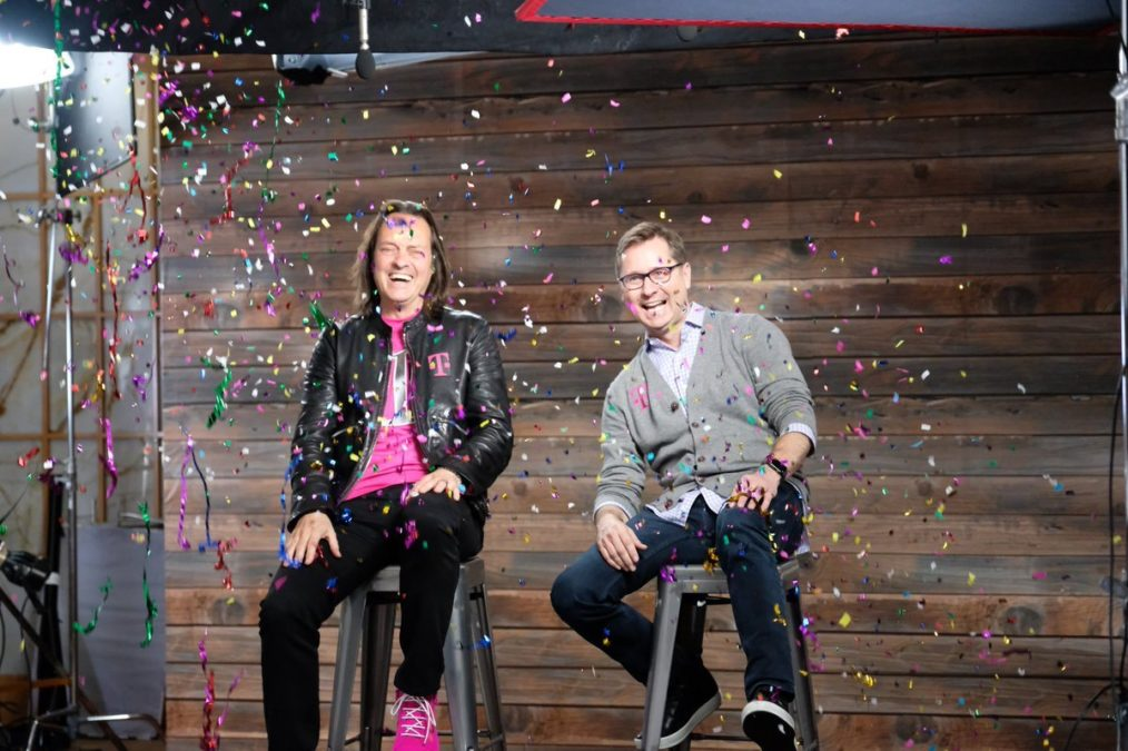 T-Mobile CEO John Legere and COO Mike Sievert