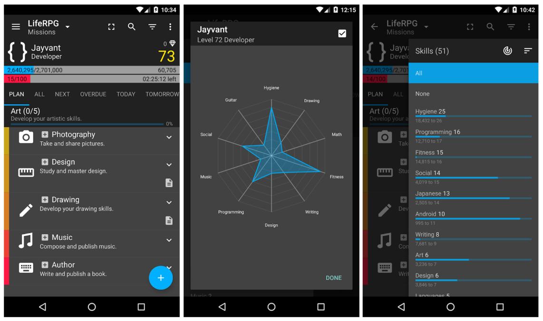 the liferpg app
