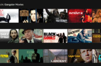 A gird showing the best gangster movies on Netflix within the Netflix web app.