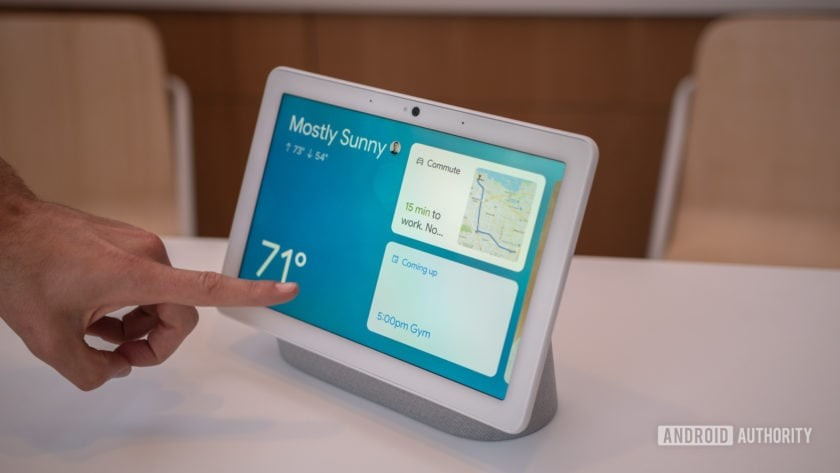 Google Nest Hub Max Face Match Recommendations