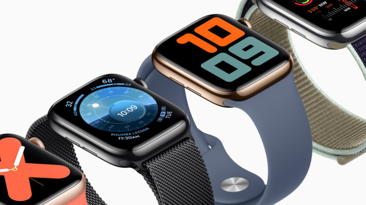 Official press render of the Apple Watch Series 5
