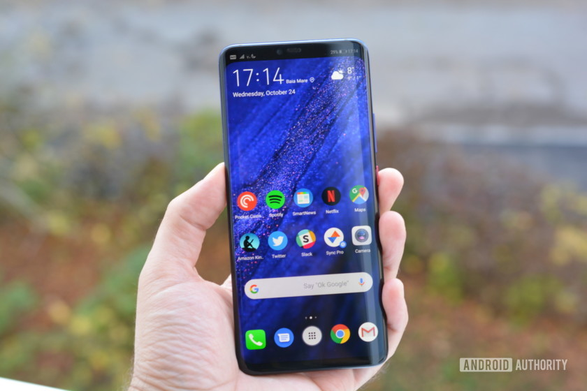 Huawei Mate 20 Pro up front