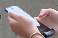 An apparent Motorola Razr foldable phone.