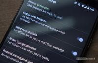 google messages chat features read receipts typing indicators rcs app google pixel 4 xl 5