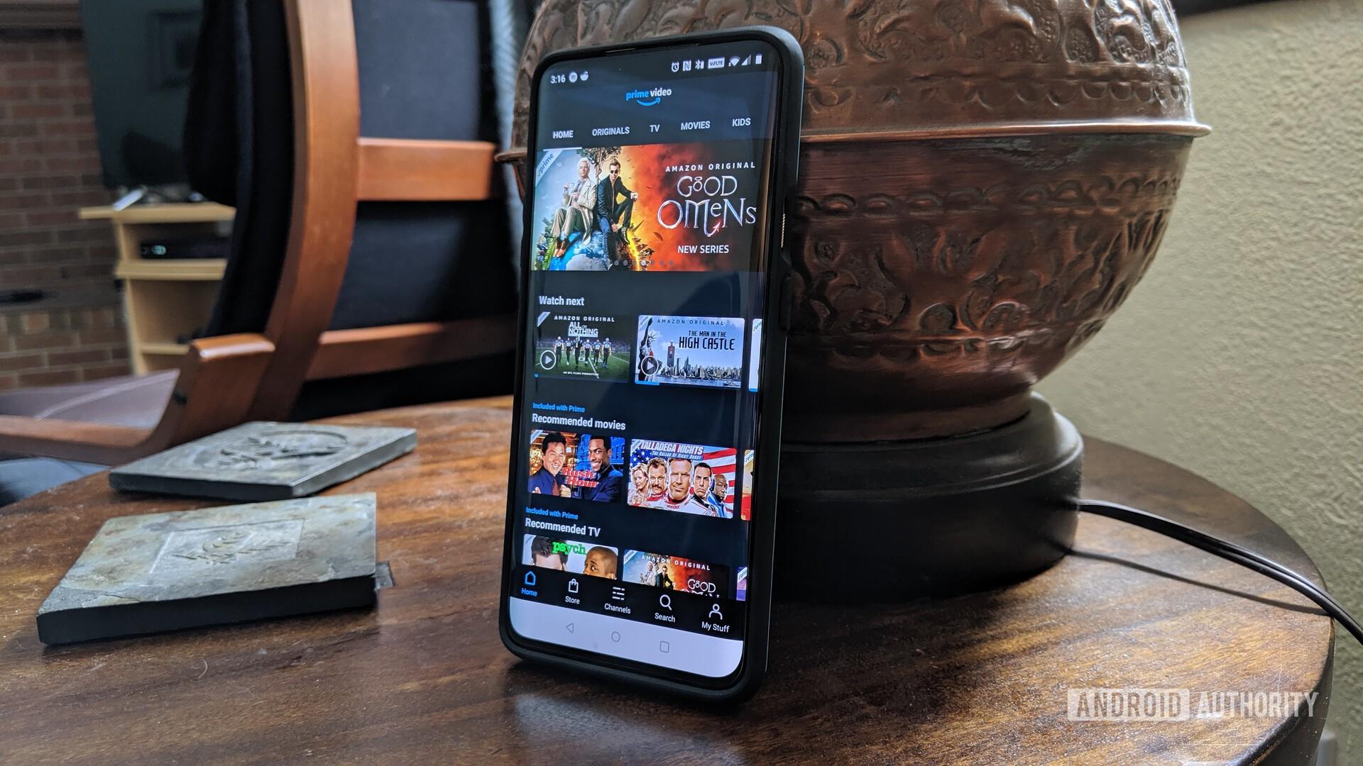 new on Amazon Prime Video - Amazon Prime Video app running on a OnePlus 7 Pro