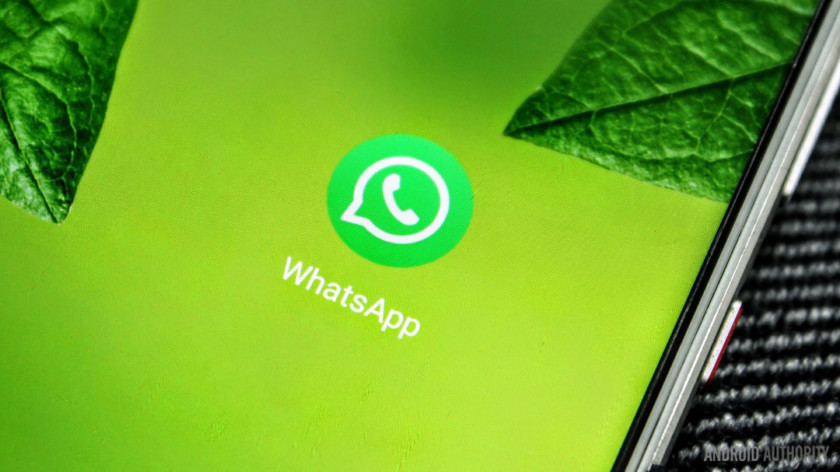 A WhatsApp app icon closeup on a smartphone for the best chat apps for android list