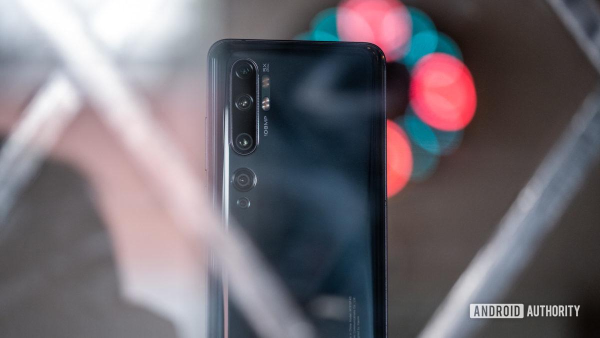 Xiaomi Mi Note 10 back side