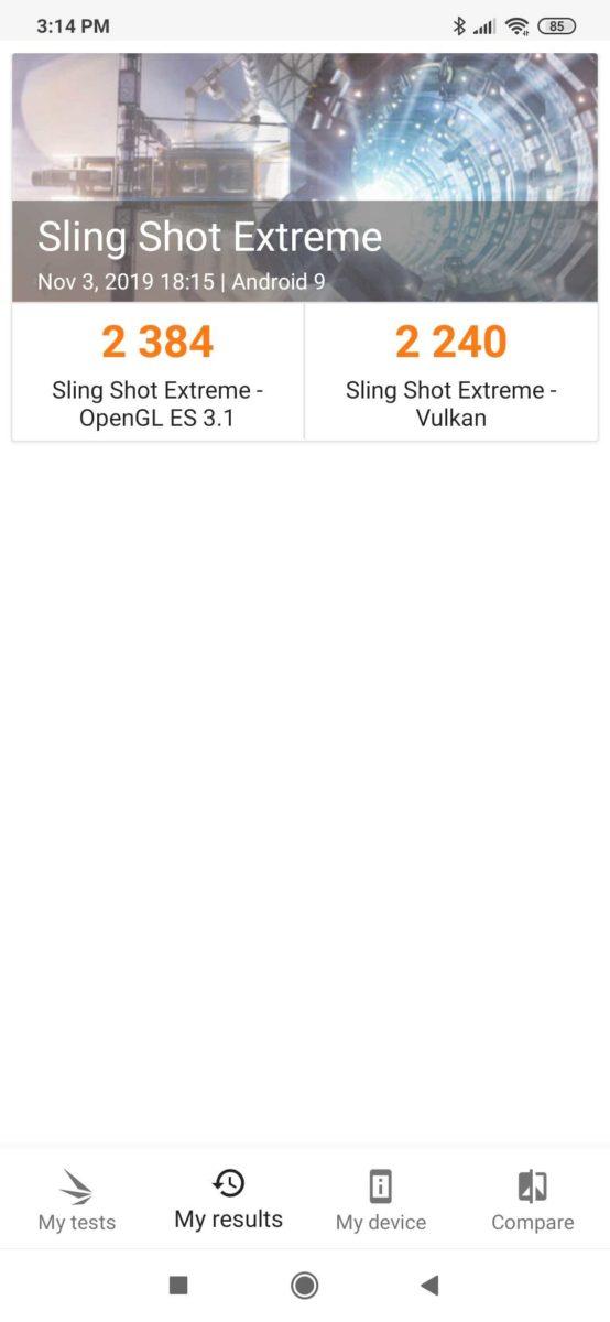 Xiaomi Mi Note 10 3DMark Score